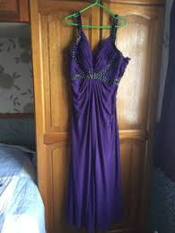 jump purple ladies thin strapped sparkly evening maxi dress size