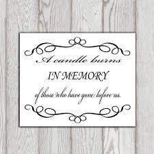 in loving memory printable memorial table wedding memorial