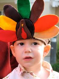 turkey headband maybe feathers in back and in front