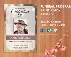 funeral program printing services printable funeral program template memorial program obituary