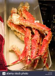 crab legs at the salt rock grill on the narrows of the gulf stock