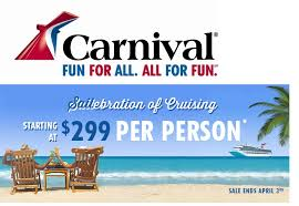 cruise deals and save on last minute cruise s carnival cruise
