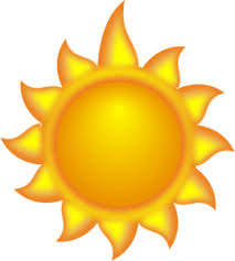 a sun with a 3 clip at clker com vector