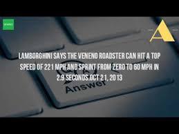 how fast can a lamborghini veneno go how fast is the lamborghini veneno