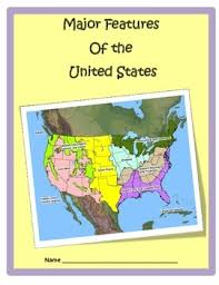 map us landforms geography u s landforms study guide 3rd grade by cammie s corner