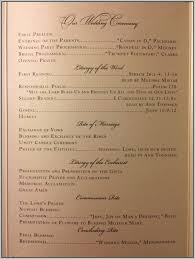 catholic wedding ceremony program christmas wedding program templates template resume exles