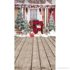 outdoor winter snow photography backdrops decorated house