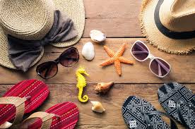 Clothing and accessories for men and women ready for travel li