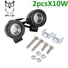 2 inch led spot light 2pcs motorcycle 10w 2 inch 10 watt high power led off road spot