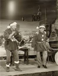 danny kaye and bing crosby on the set of