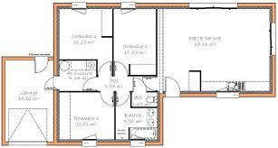 plans maison plain pied 3 chambres plan maison une chambre gallery of plan maison plain pied chambre