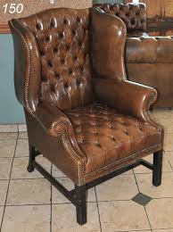 Leather Wingback Chair 150 Brown Leather Tufted Wingback Chair 44