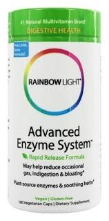rainbow light advanced enzyme system buy rainbow light advanced enzyme system 180 vegetarian capsules