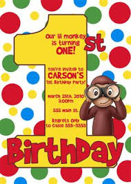curious george party ideas curious george birthday invitations cloveranddot