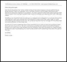 caregiver recommendation letter recommendation letters livecareer