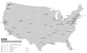 Map Of Usa Black And White by File Public Transport System Map Of The Usa Png Wikimedia Commons