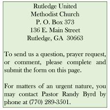 contact us rutledge united methodist church