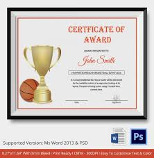of participation templates pdfsample certificate of