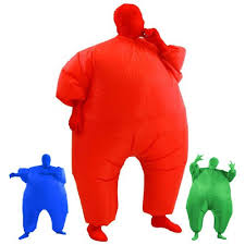 airsuits inflatable fat chub suit fancy dress party costume red