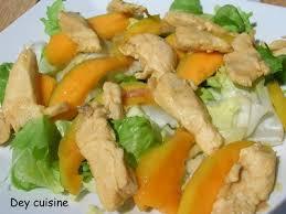 cuisiner la mangue recette salade tiède sucrée salée de poulet et mangue 750g