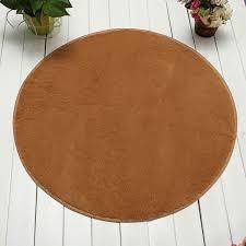 120cm non slip bedroom floor mat fluffy soft plush rug pure colour