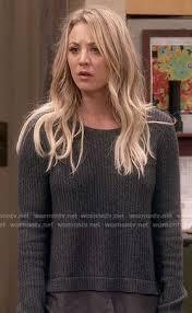 big bang theory penny hair penny s grey layered sweater on the big bang theory outfit