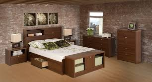 coal harbor walnut queen platform storage bedroom set at gowfb ca