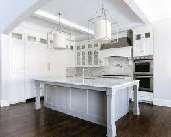 kitchen islands with posts gray island with square legs transitional kitchen