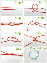 knot tie necklace images The basic decorative knot for bracelet making double tying jpg