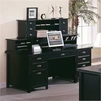 Black Desk With Hutch Kathy Ireland Home By Martin Tribeca Loft Black Right Hand
