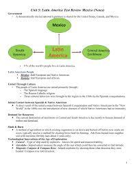 unit 5 test review notes