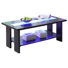 Coffee Tables With Led Lights Furniture Of America Raveena Led Light Glass Top Espresso Coffee Table