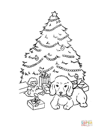 cute boy with christmas star and sled coloring page free