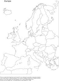 blank map of europe including black white and coloring page new