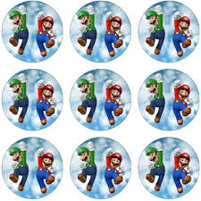 mario cake toppers mario cupcake icing images this party started