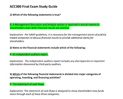 acc 300 final exam answers and explanations acc nerd