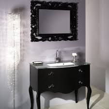 fetching black bathroom vanity plus twin sinks feat arch faucets