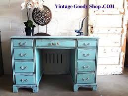 Chic Desks Tiffany Blue Desk Shabby Chic Desk Or By Thevintagegoodyshop