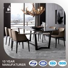 luxury wholesale modern designs wood dining table with italian