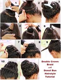 howtododoughnut plait in hair http fashionandhappify info 2013 09 double crown braid with