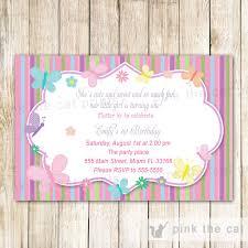Butterfly Invitations Kids Invitations U2013 Pink The Cat
