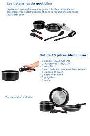 tous les ustensiles de cuisine sitram batterie de cuisine 10 pièces tous feux induction