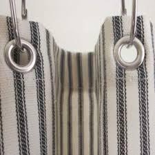 Ticking Stripe Curtains Ticking Stripe Shower Curtain Black Brown Grey Navy 72x72