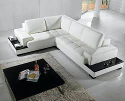 Black And White Sectional Sofa White Sectional Leather Sofa Modern 2264b Modern White Leather