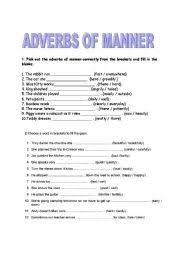 english worksheet adverbs of manner proyectos que intentar