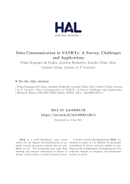 Challenge O Que ã Data Communication In Vanets A Survey Challenges And