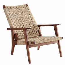 Woven Chairs Dining Armchair Outdoor Wicker Chair Plastic Woven Lounge Chair Indoor
