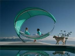 furniture futuristic furniture with comfortable hanging bed and
