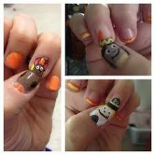 thanksgiving nail painted pilgrim and indian check out www