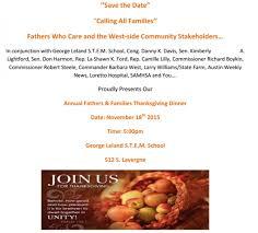 annual free community thanksgiving dinner at leland school is nov
